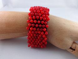 Armband rote Drops von Ursula Raymann