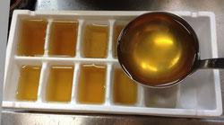 製氷皿で簡単に作れます