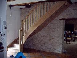 escalier 1/4 tournant en partie basse