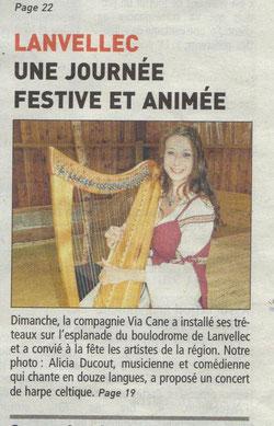Compagnie d'Azur Harpe celtique concert