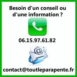mail et numéro de téléphone de contact de l'administrateur de toutleparapente
