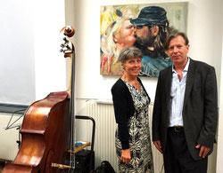 Gazmend Freitag, Mag. Monika Reif, Direktorin der VHS Alsergrund Währing Döbling, Wien, 2013