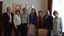 Roland Bimo, Iliriana Ajeti, Gazmend Freitag, Keti Berisha, Mr. and Mrs. Arten Hanku and Sonjuschka