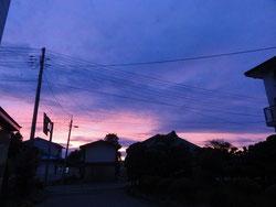 日が落ちるの早くなりました!