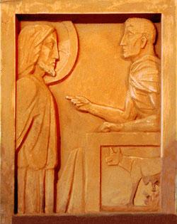 Jésus devant Pilate: première station