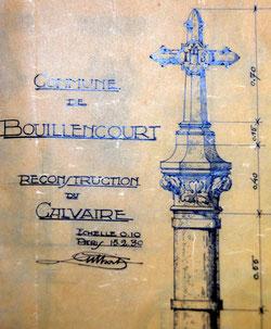 Plan réalisé par Louis Duthoit en 1930 (Archives de la famille Duthoit)