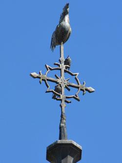 La croix du clocher de Léalvillers
