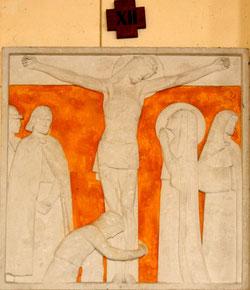 La crucifixion: 12° station