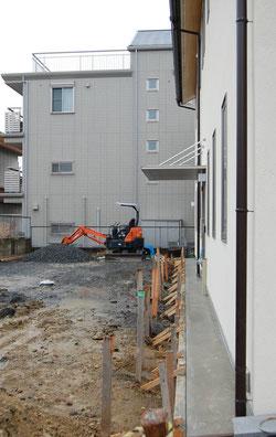 日本キリスト改革派長久手教会 会堂建築工事のようす