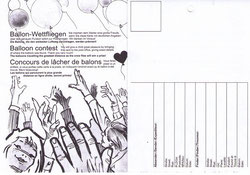 Ballonflug Karte, Abbildung ähnlich