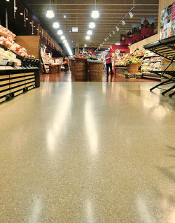 Gussasphalt Beschichtung Supermarkt