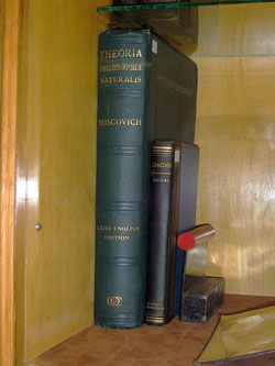 Tesla's copy of 'Theoria Philosophiae Naturalis' – Ruder Boscovich, and of Voltaire's Candide