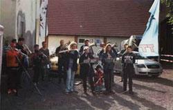 Der Musiverein Neukenroth spielte zur Eröffnung