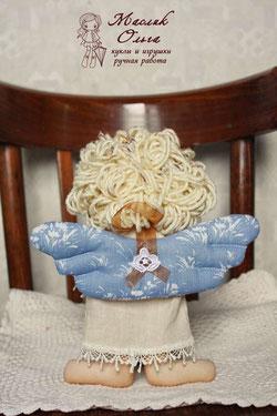 текстильная куколка ангелочек