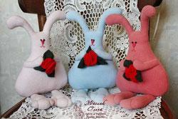 текстильные зайцы. Маслик Ольги