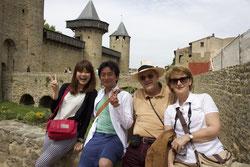 新婚旅行は世界遺産カルカソンヌ城