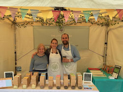 The Little Welsh Chocolate Company Market Stall, Llanyrafon Manor, Wales