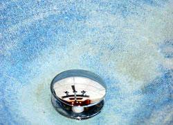 Waschbecken Glasur Nature