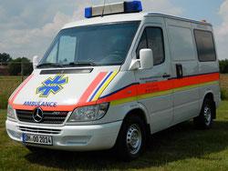 Mercedes Sprinter 213CDI für Sanitätsdienste.