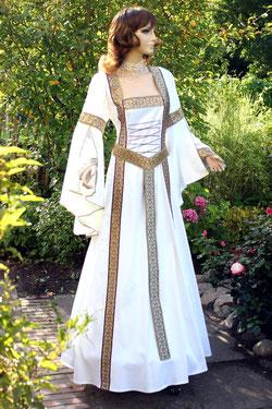 Mittelaltermode & Fantasy, mittelalterliches Hochzeitskleid, maßgefertigt.