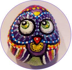 #Paintedrocks #owl #bemaltesteine #eulebunt #stoneart #owl