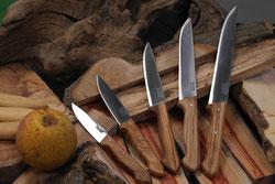 couteaux de cuisine catalans en bois d'olivier pallares solsona
