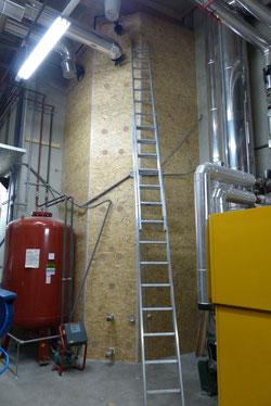 Pufferdämmung Bioenergie mit Einblasdämmstoff