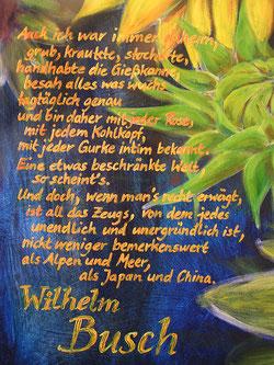 Wilhelm Busch, über sich und seinen Garten und die Welt