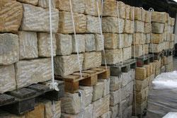 Polengranit kaufen und setzen Mauersteine