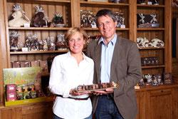 Die Besitzer der Schokoladenmanufaktur in der Lausitz