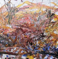 Splashing Paint, 115 x 115 cm