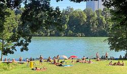 Nahe Hertener Loch, Baden im Rhein bei Rheinfelden