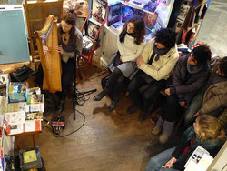 Wezen Alicia Ducout Librairie Pecari Rennes harpe electro