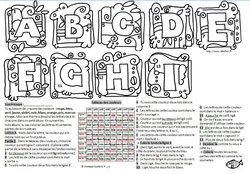 Coloriage Ludologique- Alphabet1