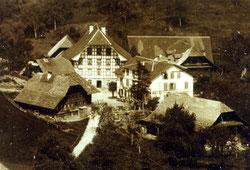Luthern Dorf, Sicht von Luegisdorf, Ausschnitt von LD 3 um Gasthaus Krone (LD 4)