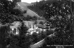 Luthern Bad, Sicht auf Erziehungsheim, Fälschung Hirschen abgedreht  (LB 15b)