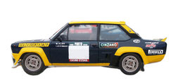 grafica completa vettura da rally fiat 131 abarth alitalia di pubblimais a torino