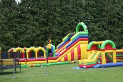 strucutre gonflable et trampoline