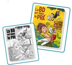 Exposition création d'un affiche Jampur Fraize - La BD est dans le pre