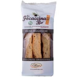 La focaccina Vegan con aceitunas negras Taggiasche (5,50€ und)