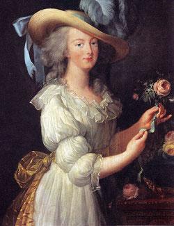 "Marie Antoinette in her famous ""muslin"" portrait, 1783 (copy V.Domm)"