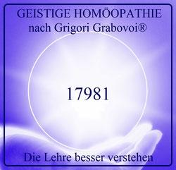 Die Lehre besser verstehen, 17981, Sphäre, GEISTIGE HOMÖOPATHIE nach Grigori Grabovoi®