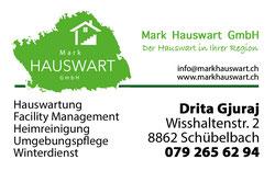 Mark Hauswart GmbH Flyer Aussenseite