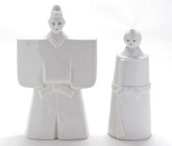 九谷焼 ホワイト雛人形 裏書き