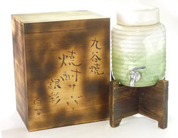 九谷焼『焼酎サーバー』銀彩ミドリ