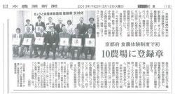 日本農業新聞 2010年3月12日