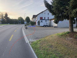 Hänger Parkplatz