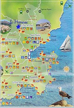 Golfe von Saint Tropez, Südfrankreich, Mittelmeerküste