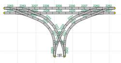 Gleisabstand Bahnhof = 140mm