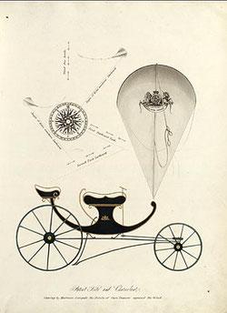 Eine von einem Drachen gezogene Kutsche (um 1820)